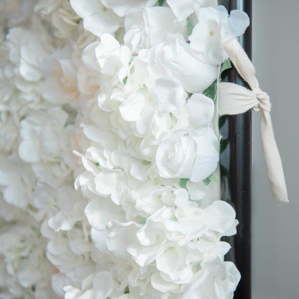 blomvägg vit hyra