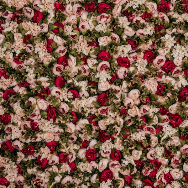 blomvägg hyra rosa