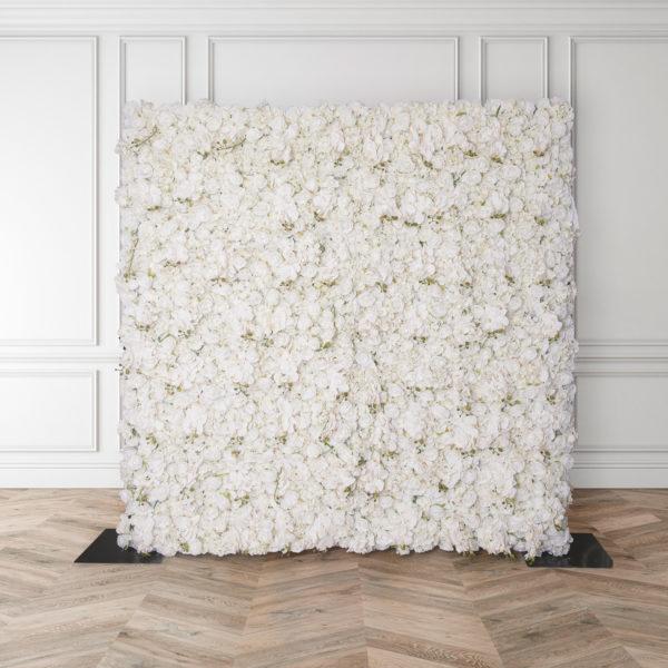 blomvägg vit bröllop